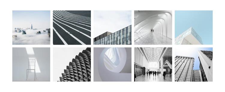 Galeria zdjęć architektury Szablon witryny sieci Web