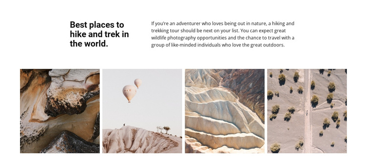 Travel gallery Template