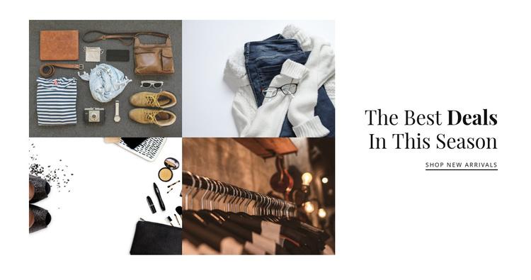 Fashion gallery Joomla Template