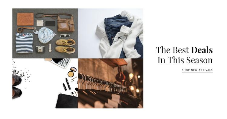 Fashion gallery Web Design