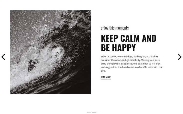 Keep calm and conquer the waves CSS Template