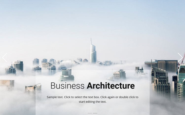 Business above the clouds Html Code