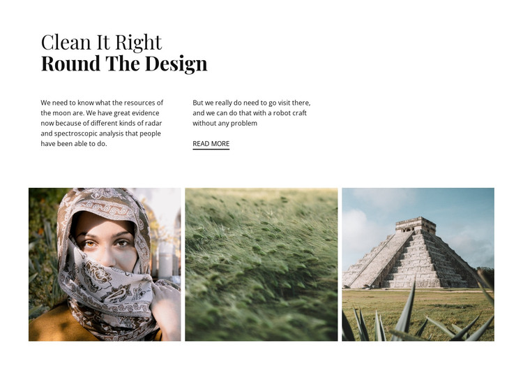 Clean design style HTML Template