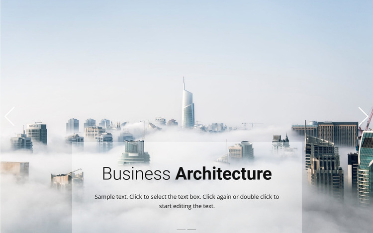 Business above the clouds HTML Template