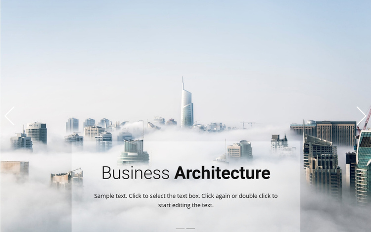 Business above the clouds One Page Template
