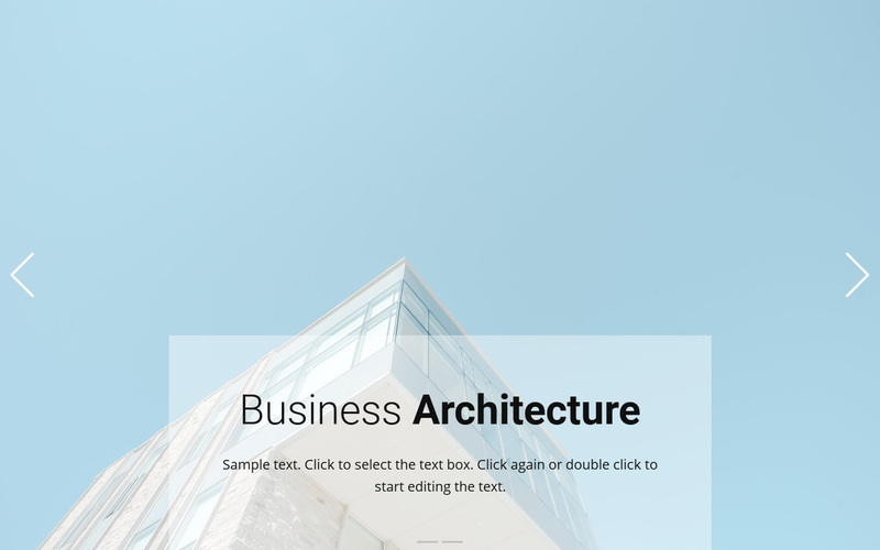 Business above the clouds Web Page Design