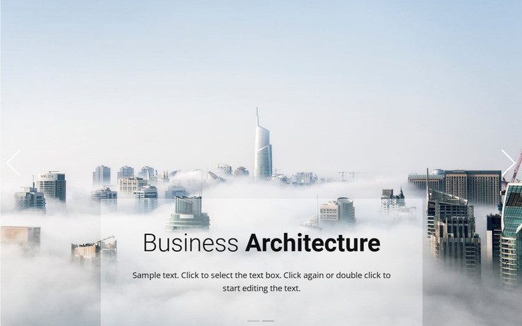 Business above the clouds Website Mockup
