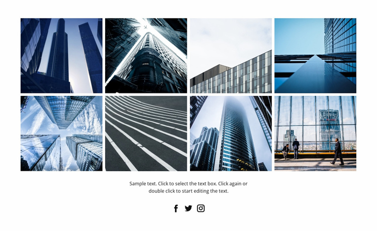 Business architecture style Landing Page