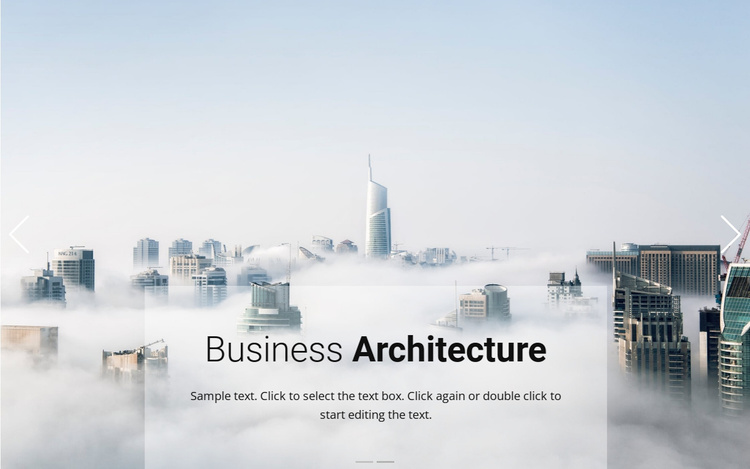 Business above the clouds Website Template