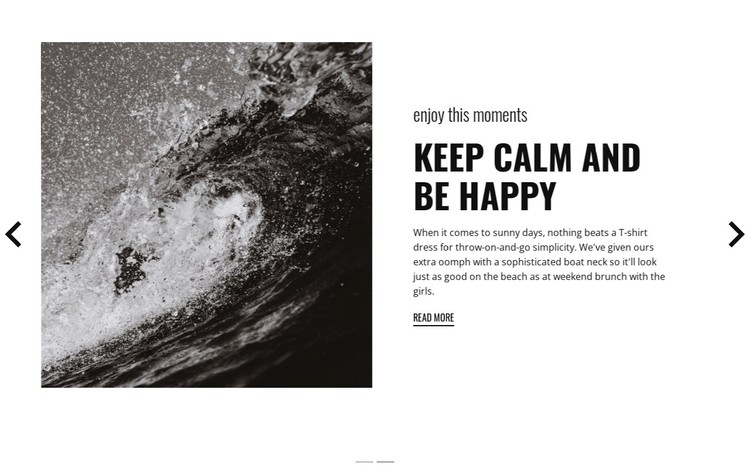Keep calm and conquer the waves WordPress Template