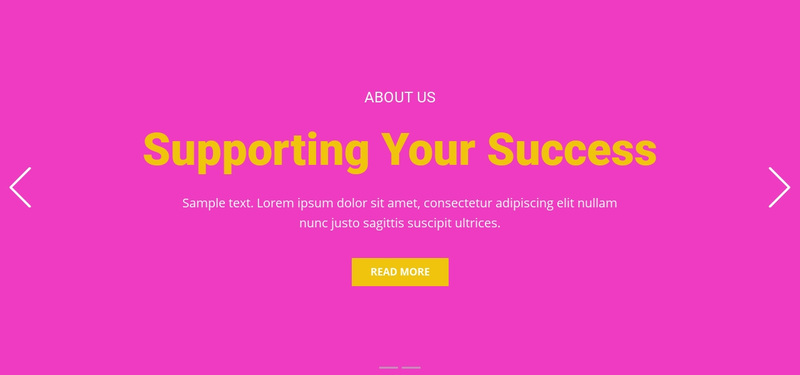 Supporting your success Web Page Design