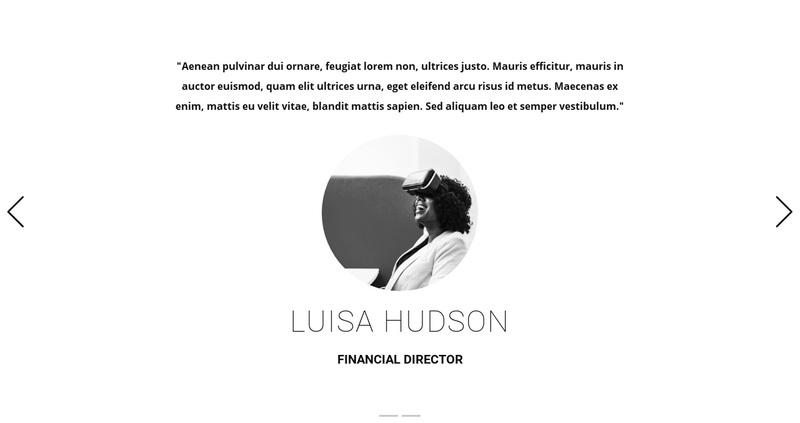 Art studio testimonials Web Page Design
