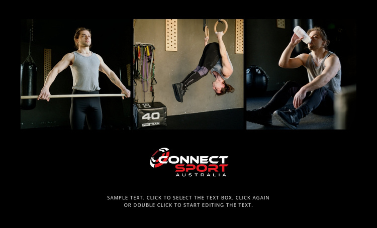 Sport connect people Website Design