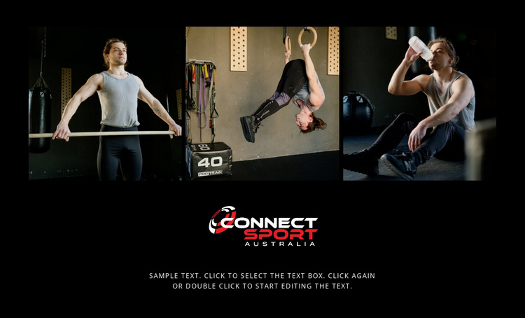 Sport connect people Landing Page