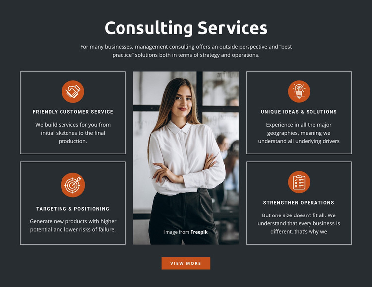 Consulting Solutions Website Builder
