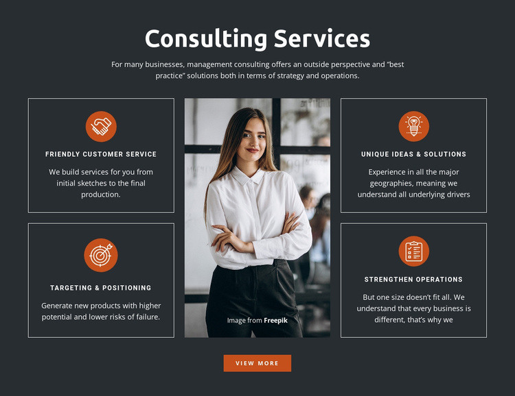 Developing leaders, managers, and teams Website Template