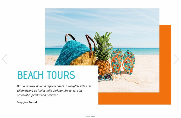 Beach Tours Html Code Example