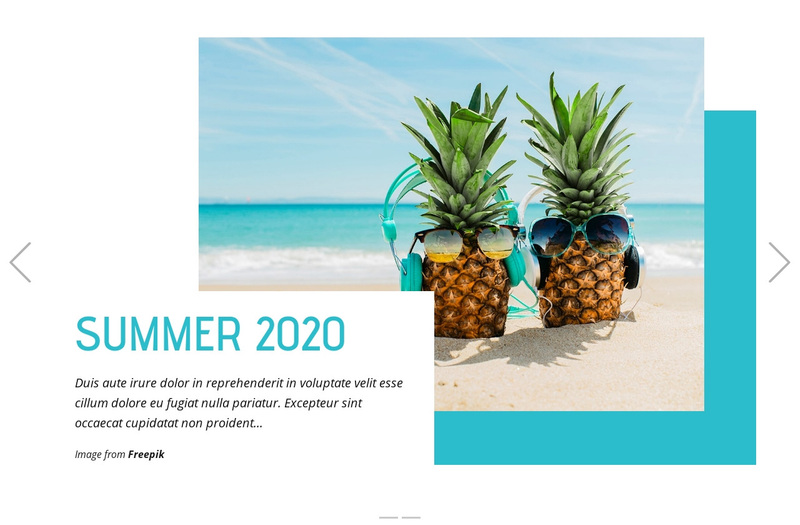 Beach Tours Web Page Design