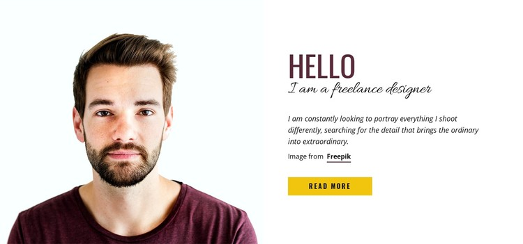 Professional stock photography seller CSS Template