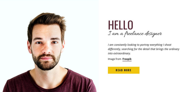 Professional stock photography seller Homepage Design