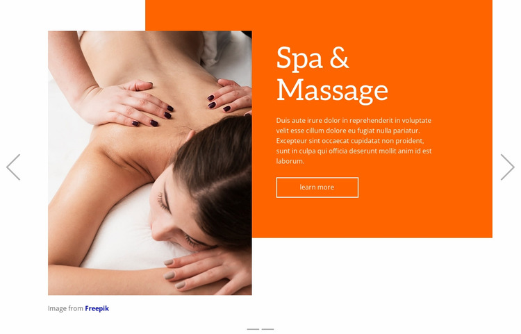 Massage therapy Website Mockup