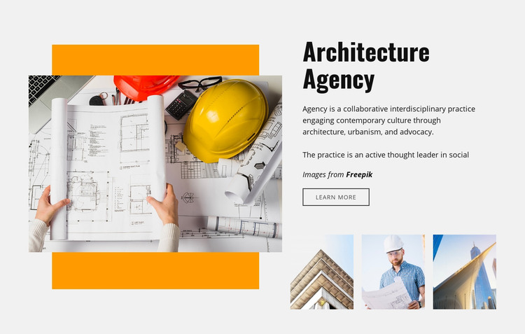We create sustainable buildings Homepage Design