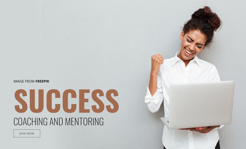 Success Coaching Web Page Design