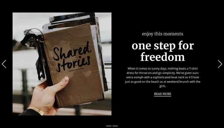 One step for freedom Website Mockup