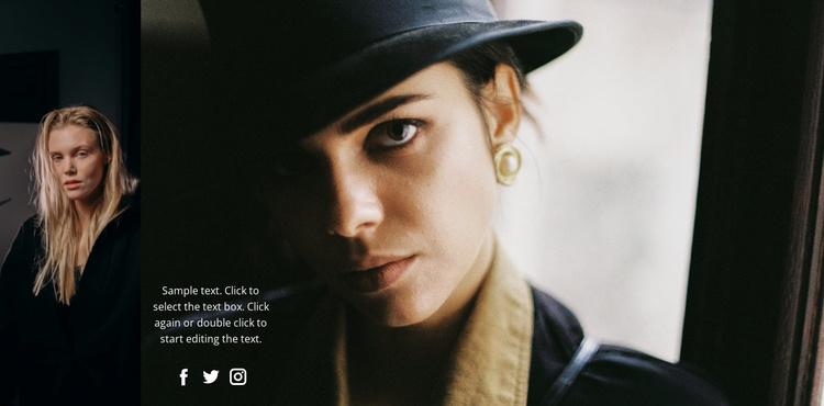 Beautiful fashion face   Website Template
