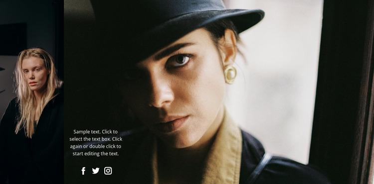 Beautiful fashion face   WordPress Website Builder