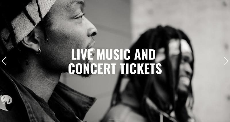 Live music  Web Page Design