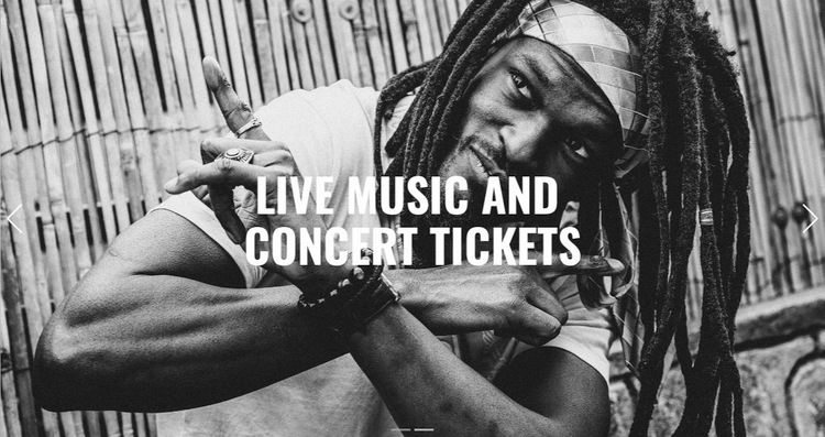 Live music  WordPress Website