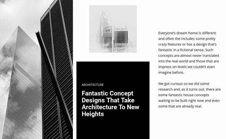 Fantastic Concept architecture  Website Template
