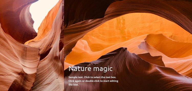 Nature magic Website Template