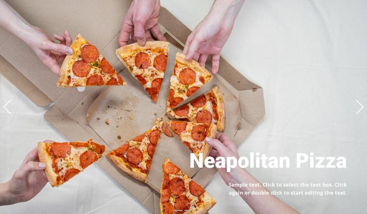 Traditional pizza Web Design