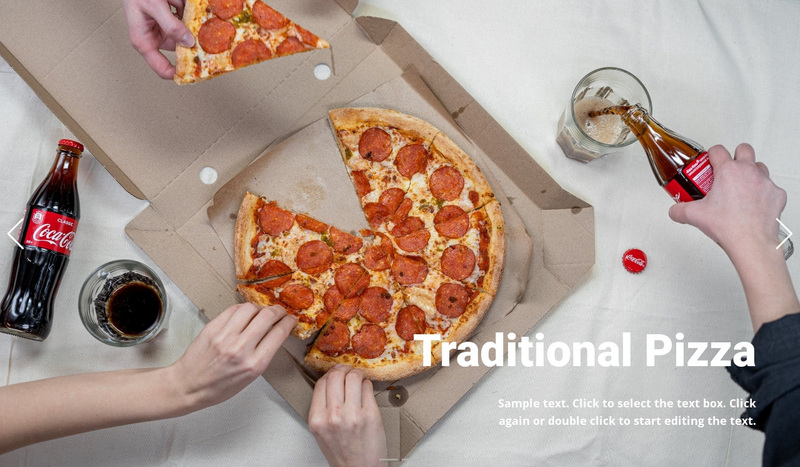 Traditional pizza Web Page Design
