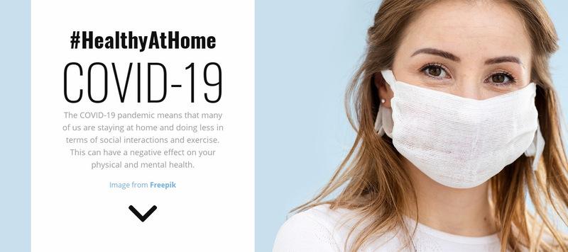 Healthy at Home Web Page Designer