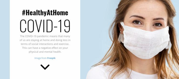 Healthy at Home Website Mockup