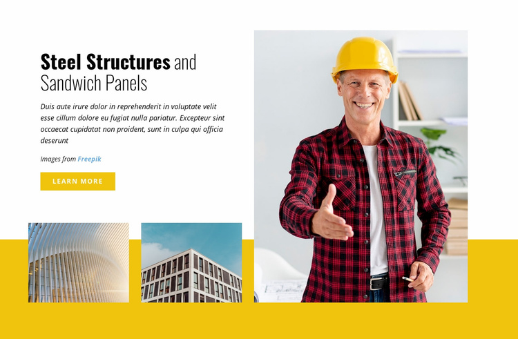 Steel Structures and Sandwich Panels Website Template