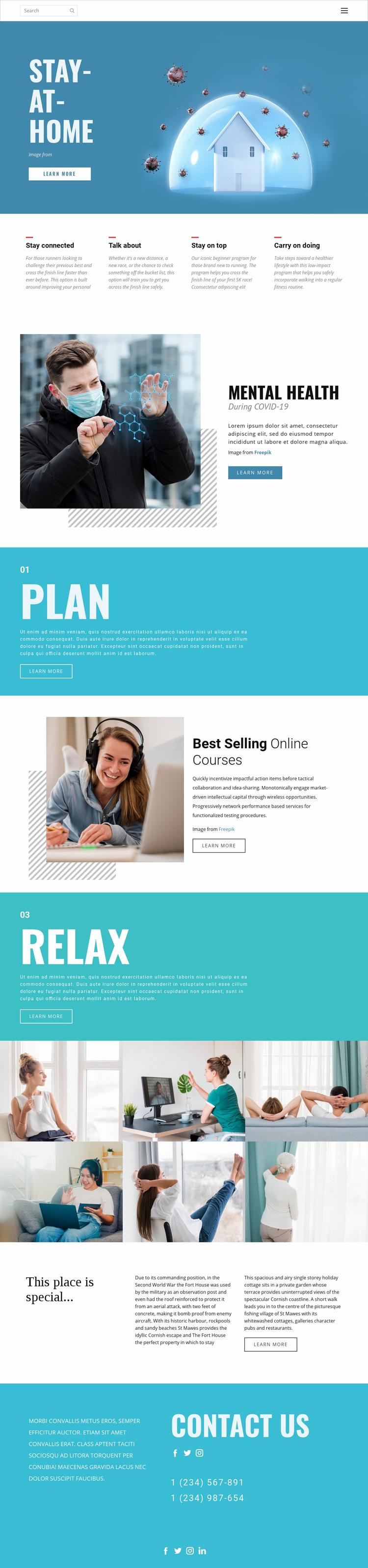 Stay-at-home medicine Web Page Designer