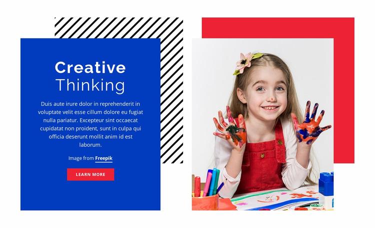 Crafts for kids Website Mockup