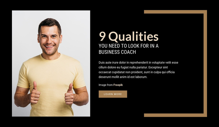 9 Qualities You Need to Look for in a Business Coach HTML5 Template