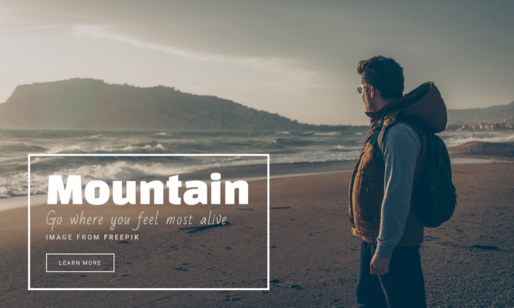 The mountains are calling and I must go Website Template