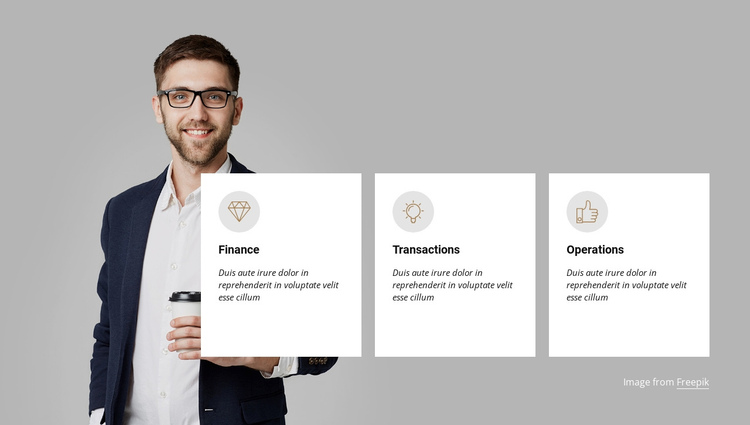 Accelerating your business One Page Template