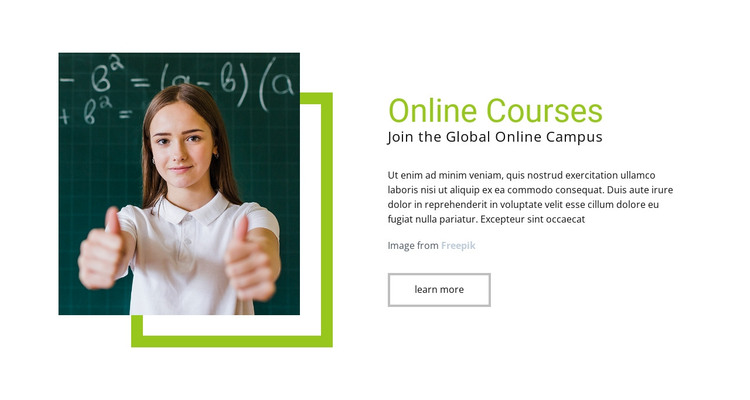 Online Courses HTML Template