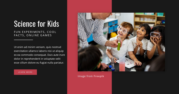 Science for Kids Website Template