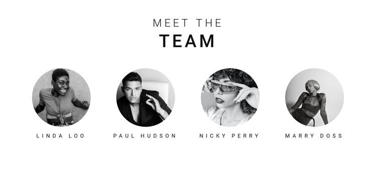 Meet the team HTML Template