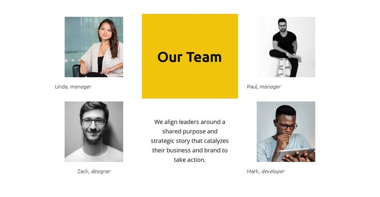 Our super team HTML Template