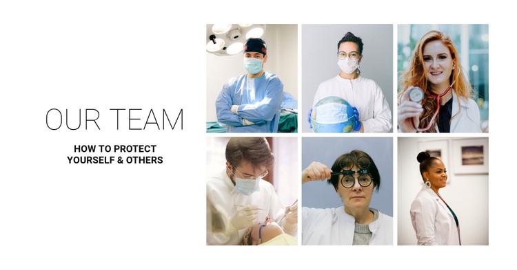 Clinic team HTML Template