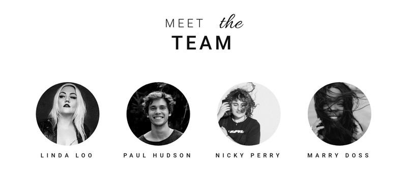 Meet the team Web Page Design